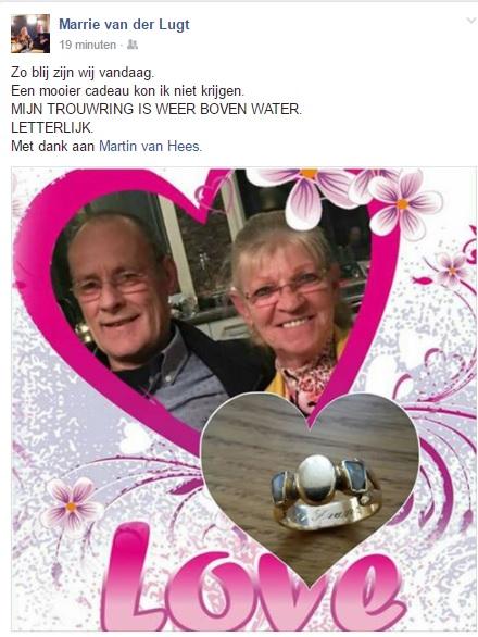 Bijzondere Trouwring Teruggevonden In De Sloot (Tilburg) Al 46 Jaar Getrouwd