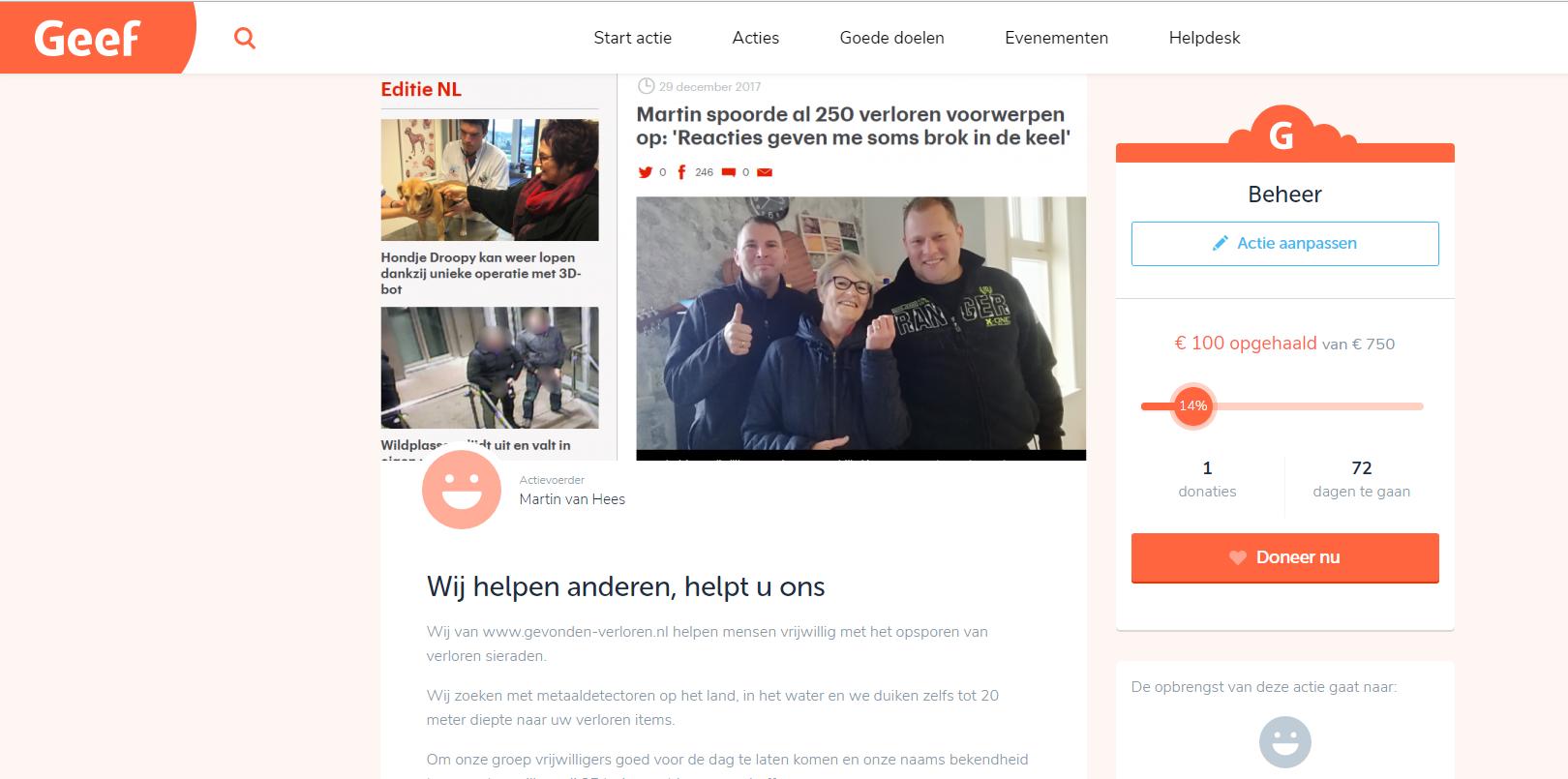 Crowdfunding Voor Onze Vrijwilligers