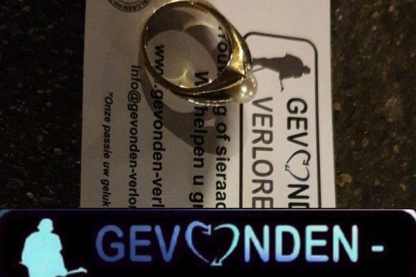 Gouden ring verloren? Gevonden-verloren.nl. Wij kunnen helpen