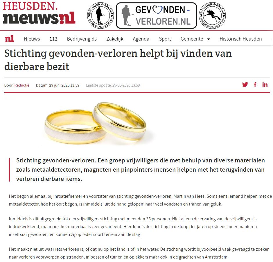Heusden Nieuws, Stichting gevonden-verloren helpt!