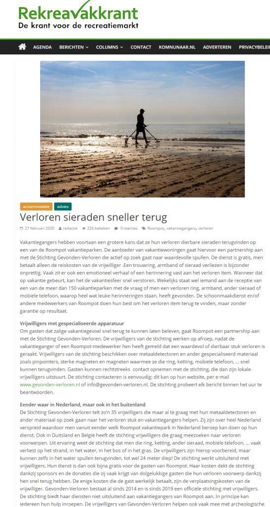 Recreatie krant Nederland