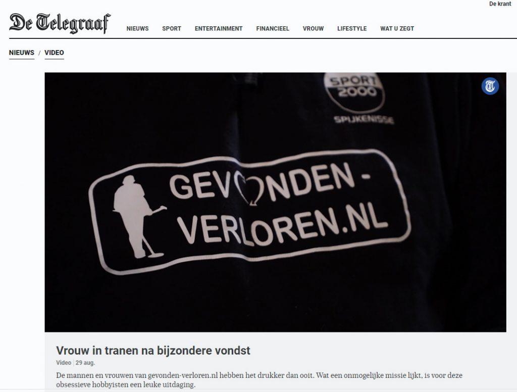 De telegraaf, gevonden-verloren bijzondere vrijwilligers