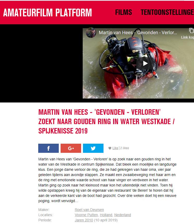 Martin van Hees - 'Gevonden-verloren' zoekt naar gouden ring.