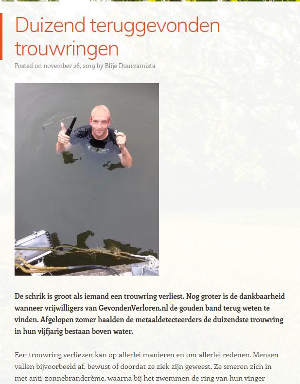 Dankbaarheid voor de vrijwilligers van GevondenVerloren.nl