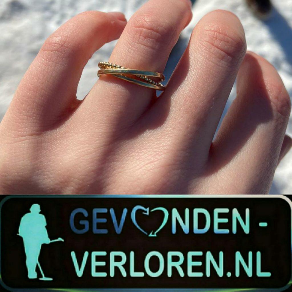 Ring verloren in de sneeuw, Nijmegen.